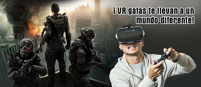 ¡ VR gafas te llevan a un mundo diferente!