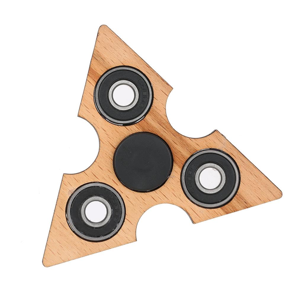 best triangle wooden fidget hand finger spinner spin widget focus sale online shopping. Black Bedroom Furniture Sets. Home Design Ideas