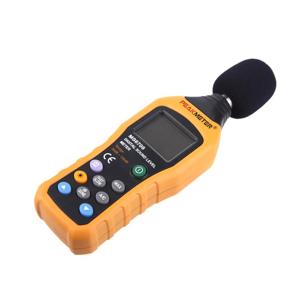 Sound Level Meter : Best peakmeter ms digital sound level meter db sale