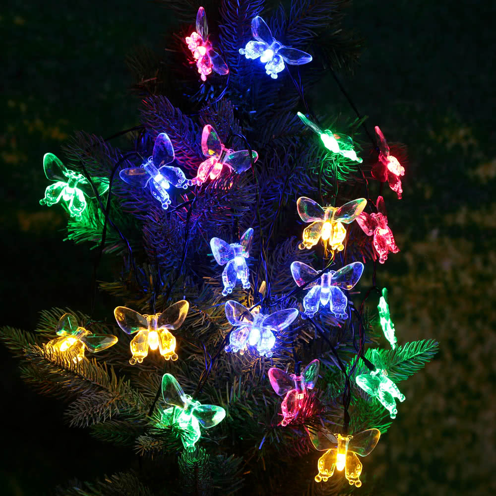 Best Outdoor Garden Solar Powered 4.7M 20 LED Multi Color Butterfly Sale Online Shopping ...