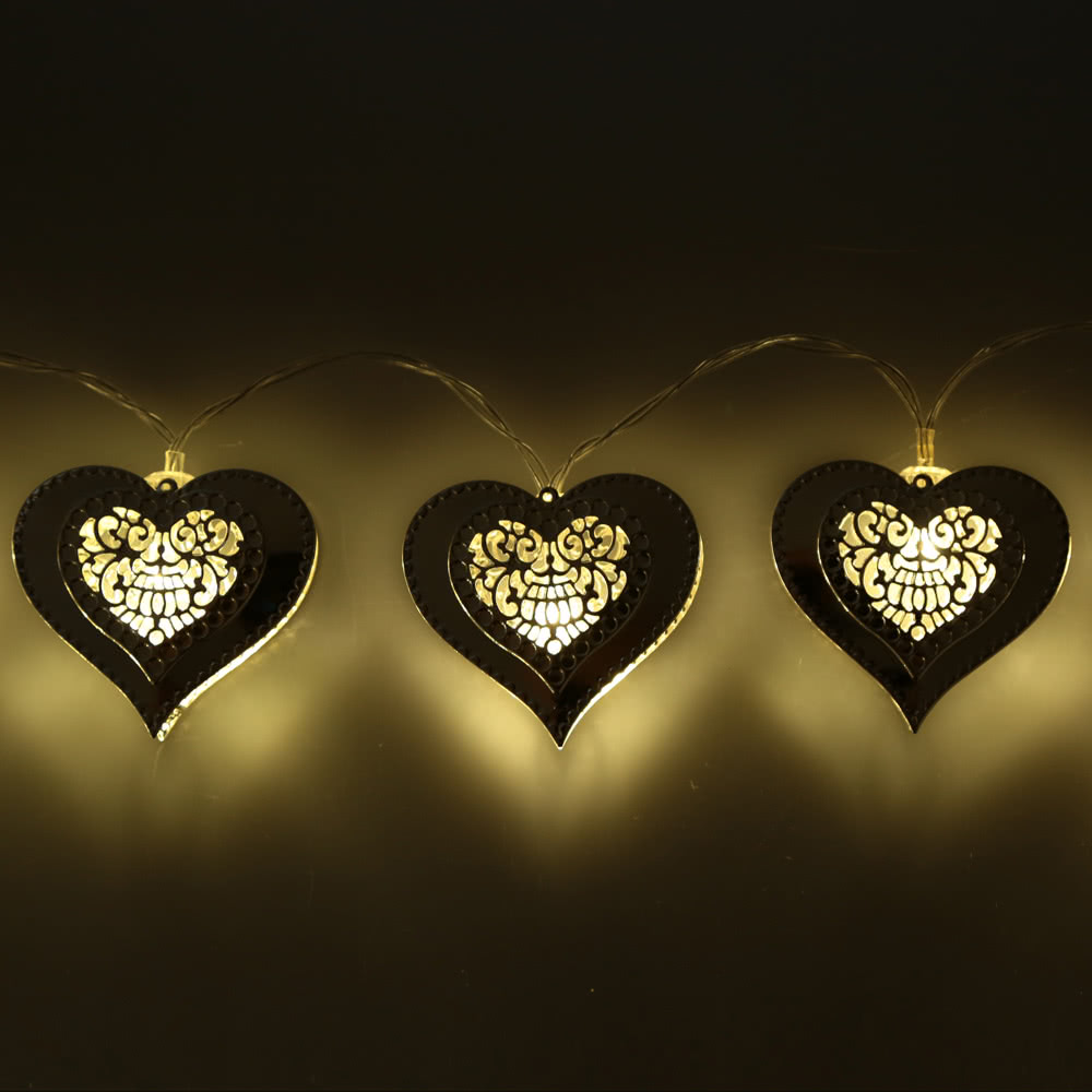 Metal Heart String Lights : Best 2.1M 20 LED Heart Pendant String Sale Online Shopping Cafago.com