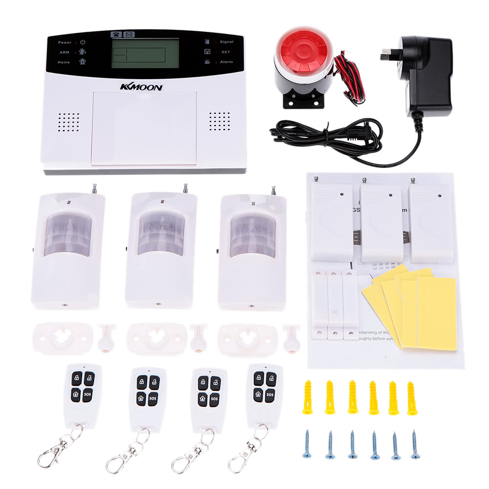 Best Kkmoon 106 Wired Wireless Gsm Sms Home Security Alarm