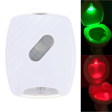 LED-Human Motion Activated PIR Lichtsensor Toilette Lampe