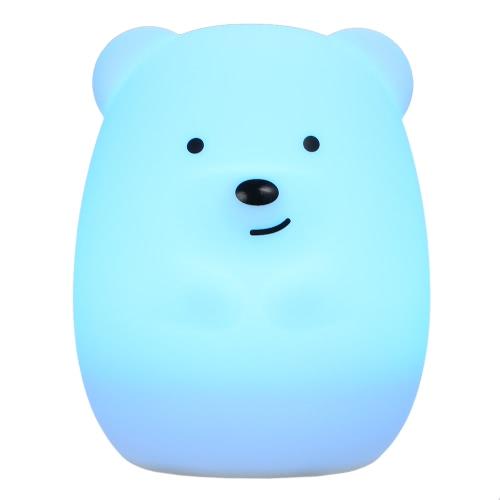1.6W 8 LEDs Creative Cute Bear Night Light