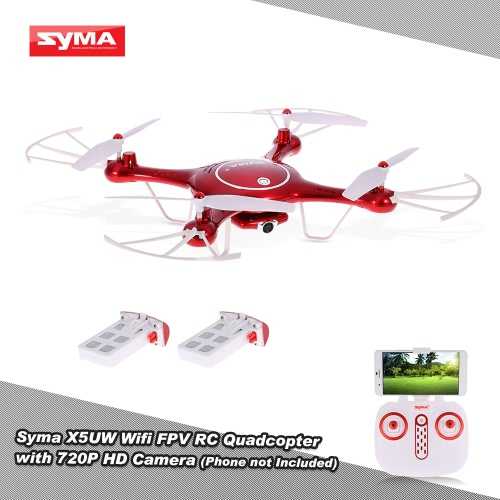 Syma X5UW Wifi FPV Quadcopter 720P HD Camera RC Drone with Barometer Set Height