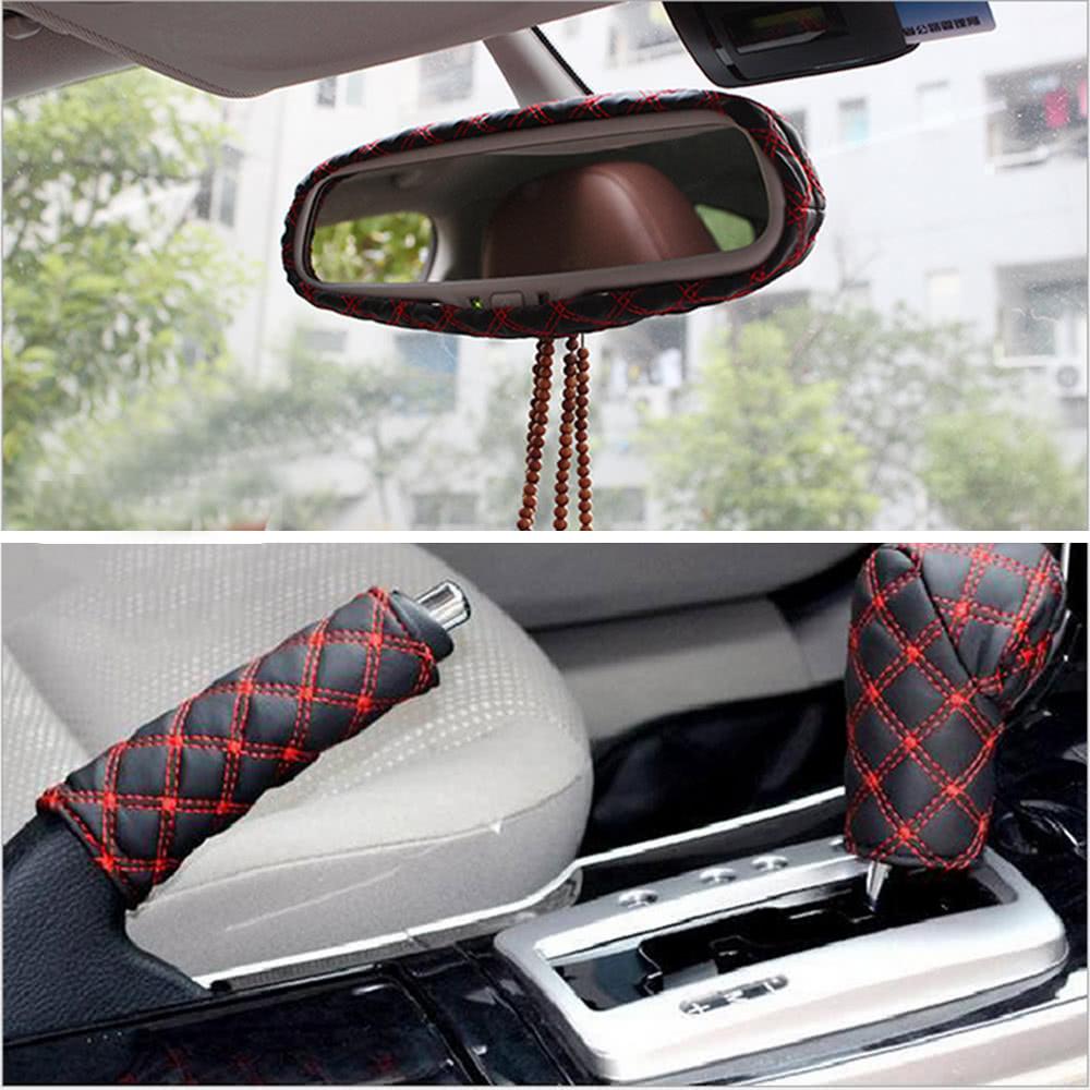 best 3pcs fashion car pu interior red sale online shopping. Black Bedroom Furniture Sets. Home Design Ideas