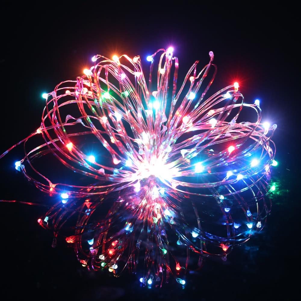 Best Tomshine 10M/33FT 100LEDs Starry String Multicolored Flashing multiclor uk plug Sale Online ...