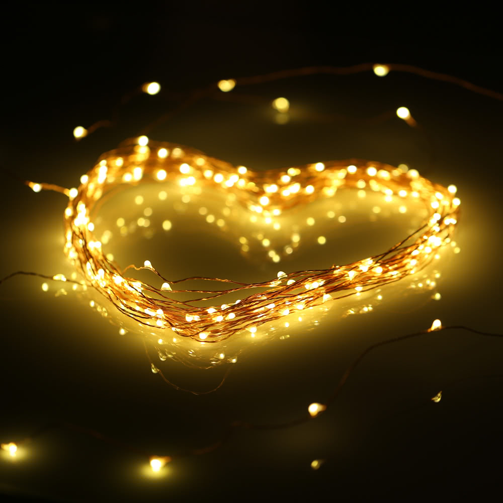 Best 10M 100 LEDs Copper String Wire Light LED Warm White Starry uk plug #1 Sale Online Shopping ...
