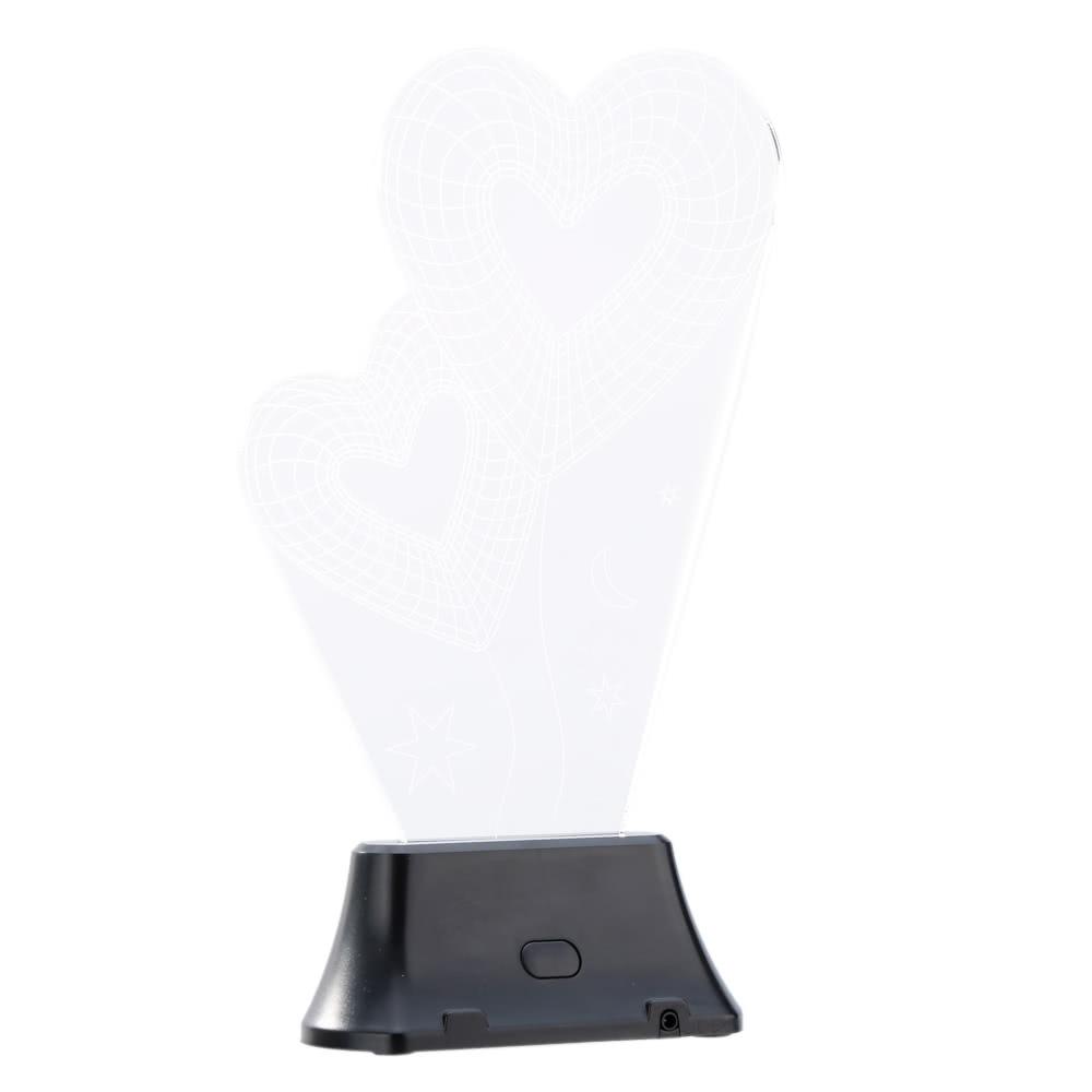 beste lixada 3d led lampe licht usb herz zu herz buntes verkauf online einkaufen. Black Bedroom Furniture Sets. Home Design Ideas