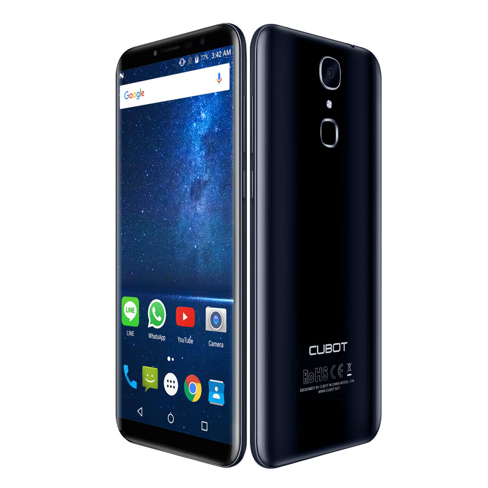 Best Cubot X18 Fingerprint 4g Sale Online Shopping Blue Eu