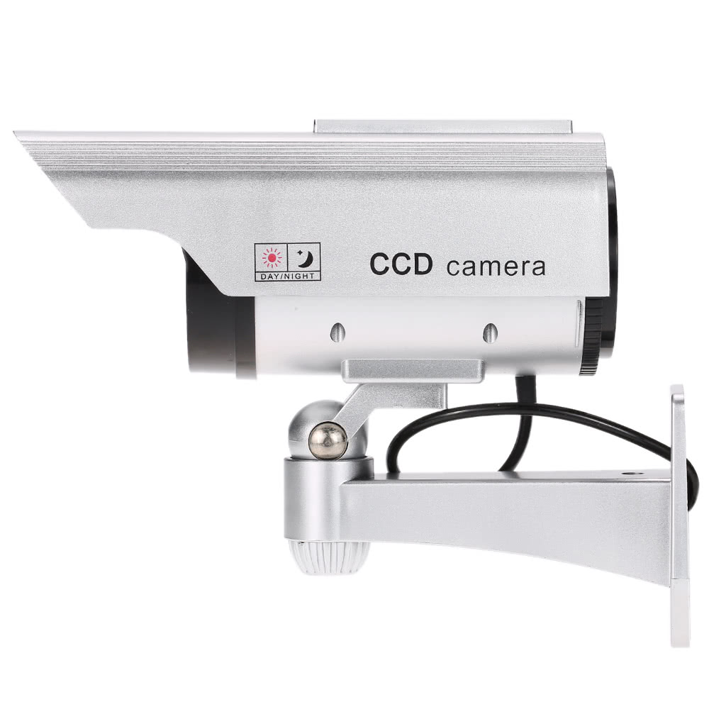 Best simulation bullet camera solar powered fake dummy for Motorized security camera system