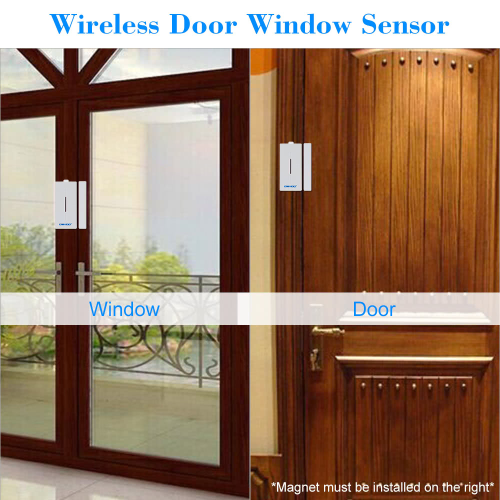 1* Wireless Door Sensor 1* Mounting Pads 1* User Manual