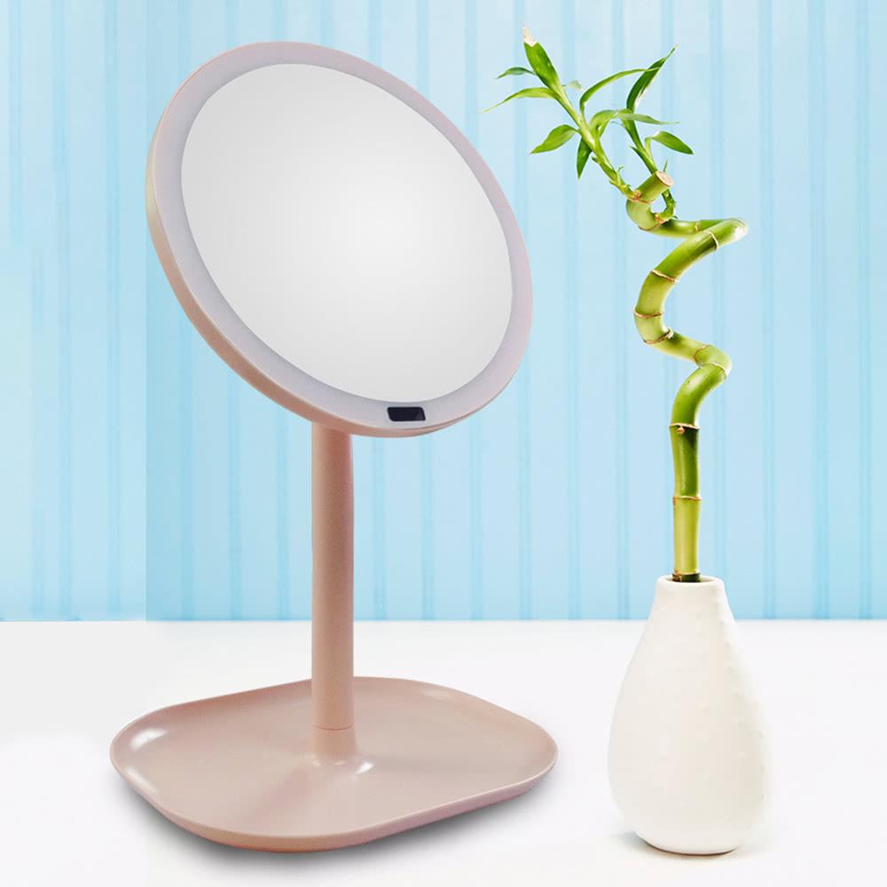 best desktop sensor 30 led lighted makeup vanity pink 1 sale online shopping. Black Bedroom Furniture Sets. Home Design Ideas