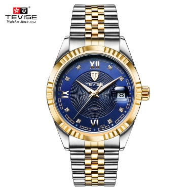 TEVISE Top Brand Men Fashion Luxury Waterproof Wristwatch
