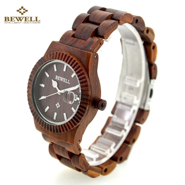 BEWELL Fashion High Quality Wood Super Lightweight Wristwatch