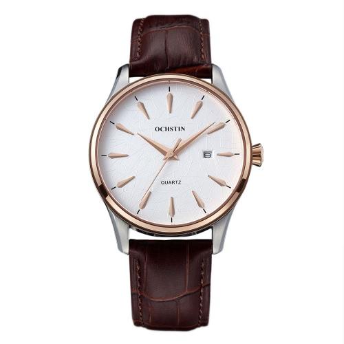 OCHSTIN Brand Luxury Genuine Leather Quartz Couple Watch