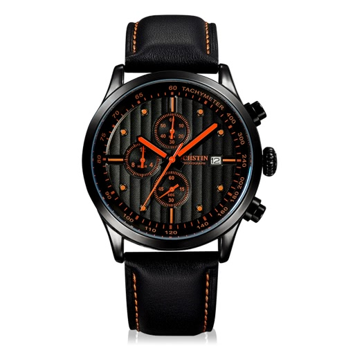 OCHSTIN Luxury Genuine Leather Casual Quartz Men's Wristwatch