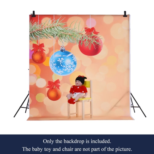 1.5 * 2m Photography Backdrop Computer Printed Christmas Bell Spot Pattern