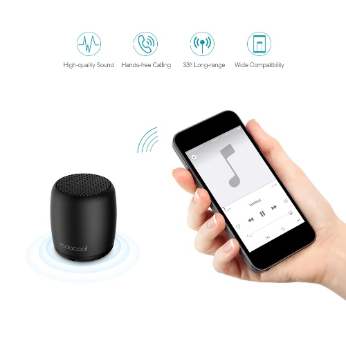 dodocool Mini Portable Rechargeable Wireless Speaker with Built-in Microphone,limited offer $9.98
