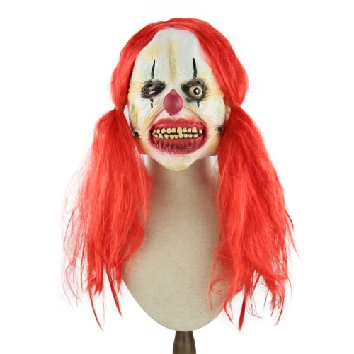 Latex Full Face Scary Toothy Clown Mask