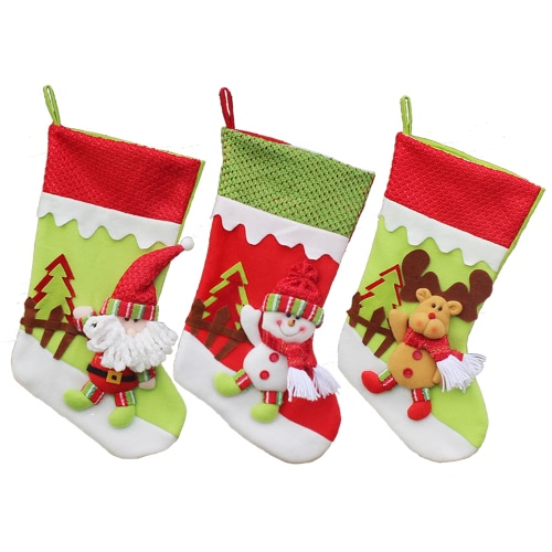 3pcs/set Christmas Hanging Stockings,free shipping $11 (Code:WZH19655)