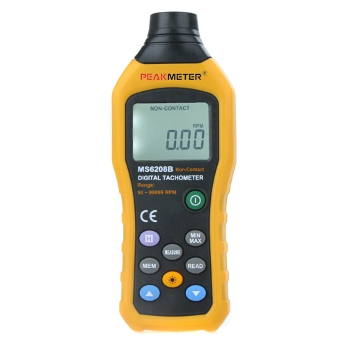 PEAKMETER MS6208B Non-Contact Digital Tachometer
