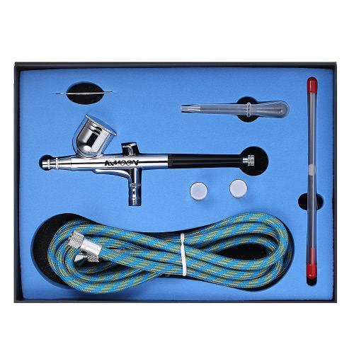 Airbrush Kit 0.25-0.3mm Dual-Action Spray Gun Air Brush Set