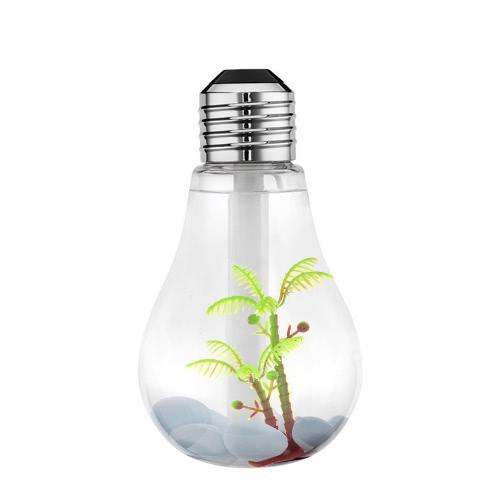 400ml Colorful Landscape LED Night   Light Bulb USB Mini Humidifier