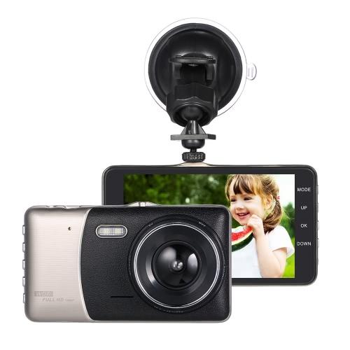 """Best KKMOON 4"""" Dual Lens Car Sale"""