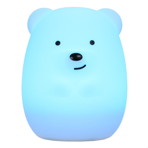 1.6W 8 LEDs Creative Cute Bear Night Light