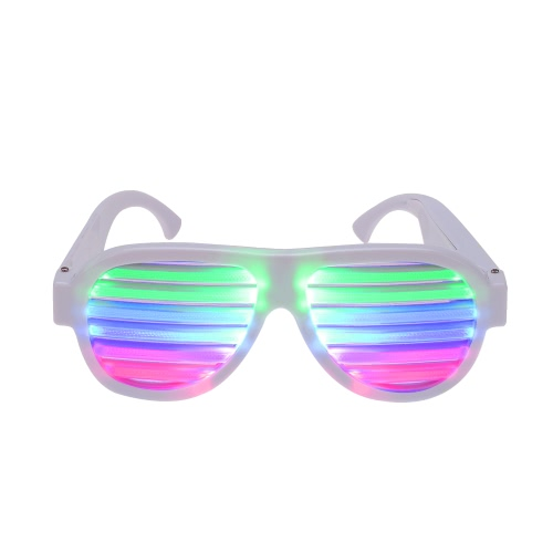LED Glow Sound Control Glasses
