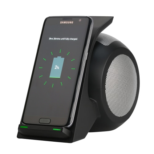 WN1 Qi Wireless Charger Power Station + Bluetooth NFC Stereo Speaker