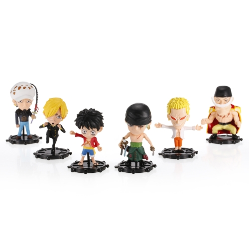 6 in 1 One Piece Figure 6 Characters Action Figure Toy