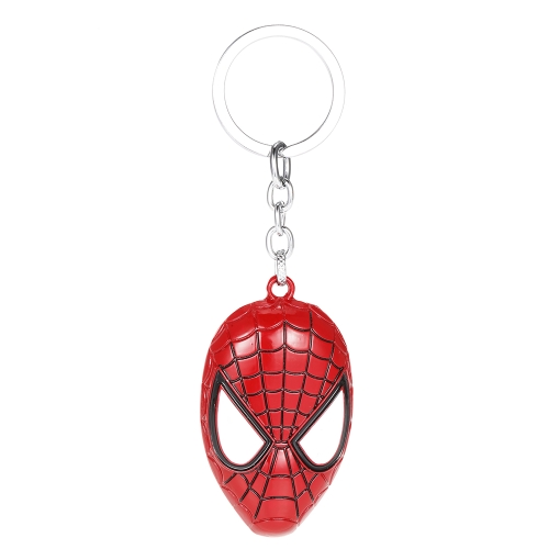 Superhero Key Ring Spider-Man Mask Metal Key Chain