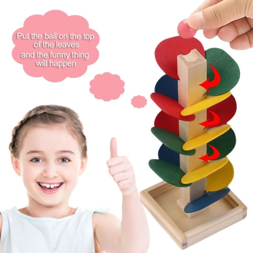 Wooden Ball Tree Rolling Game Educational Toys