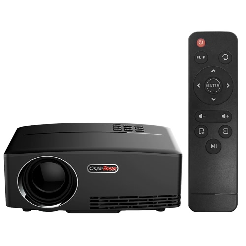 "GP80 Projector 1080P Full Color 180"" LED Projector"