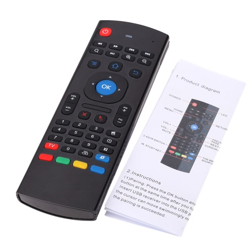 MX3 Portable 2.4G Wireless Remote Control Keyboard Controller Air Mouse