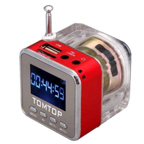Digital Portable Music MP3/4 Player Micro SD/TF USB Disk Speaker FM Radio Silver