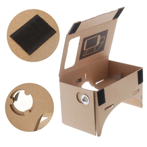 DIY Google Cardboard Virtual Reality VR Mobile Phone 3D Viewing Glasses